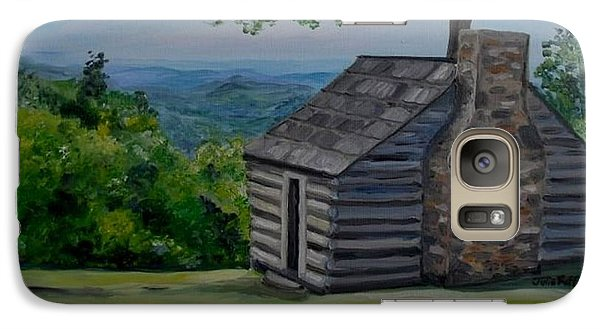 Galaxy Case featuring the painting Cabin On The Blue Ridge Parkway In Va by Julie Brugh Riffey