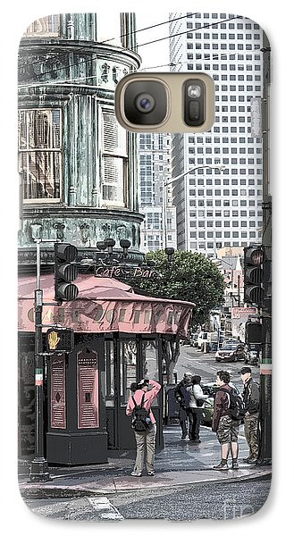 Galaxy Case featuring the photograph Cafe Zoetrope  by Artist and Photographer Laura Wrede