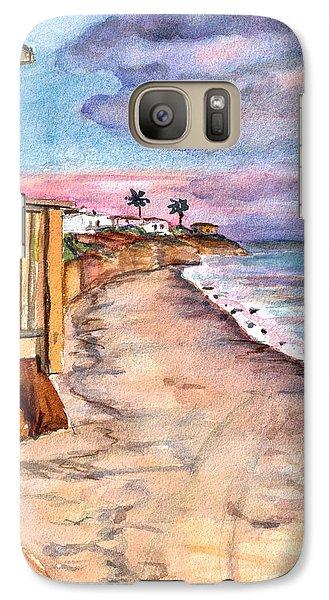 Galaxy Case featuring the painting California Coast by Clara Sue Beym