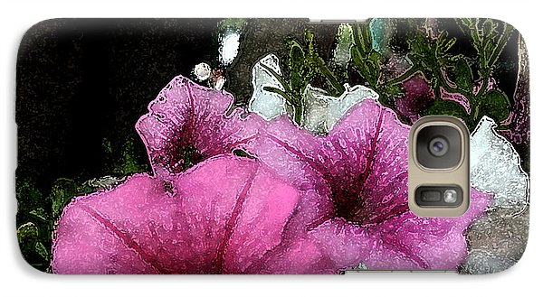 Galaxy Case featuring the painting California Petunias by Karen Harrison