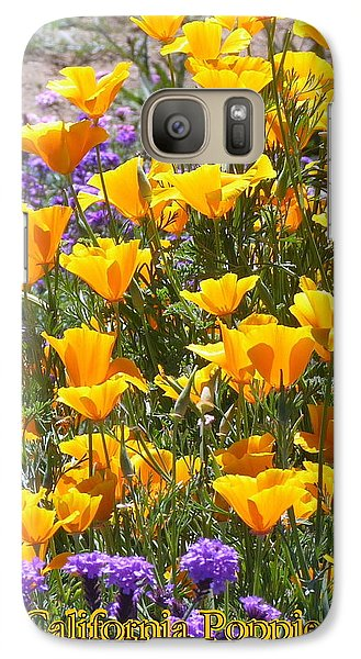 Galaxy Case featuring the photograph California Poppies by Carla Parris
