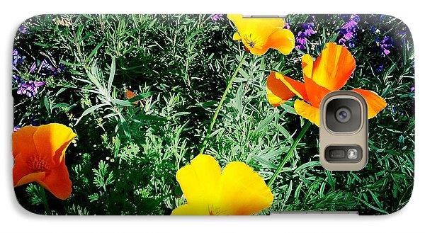 Galaxy Case featuring the photograph California Poppy by Nina Prommer