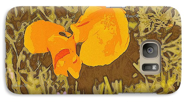 Galaxy Case featuring the photograph California Poppy by Rima Biswas