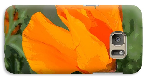 Galaxy Case featuring the photograph California Poppy2 by Rima Biswas
