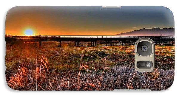 Galaxy Case featuring the photograph California Sunset by Marta Cavazos-Hernandez