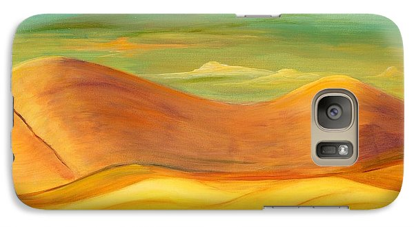 Galaxy Case featuring the painting California Sunset by Terry Taylor