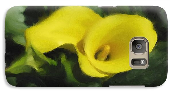 Galaxy Case featuring the mixed media Calla Lily by Hai Pham