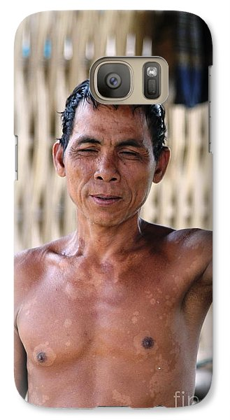 Galaxy Case featuring the photograph Cambodian Dignity by Nola Lee Kelsey