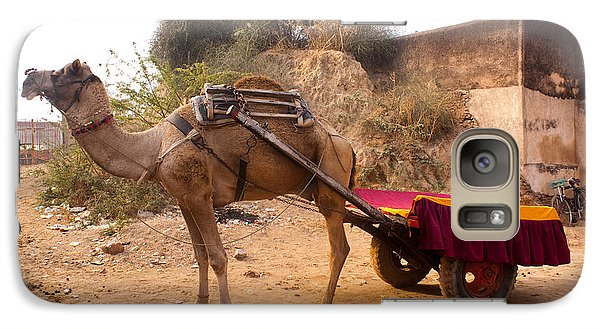 Galaxy Case featuring the photograph Camel Yoked To A Decorated Cart Meant For Carrying Passengers In India by Ashish Agarwal