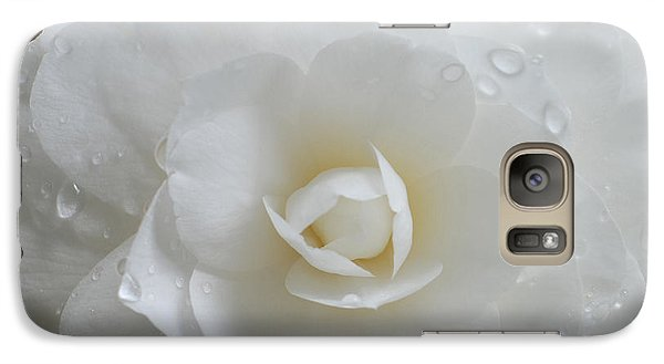 Galaxy Case featuring the photograph Camellia After Rain Storm by Shane Kelly