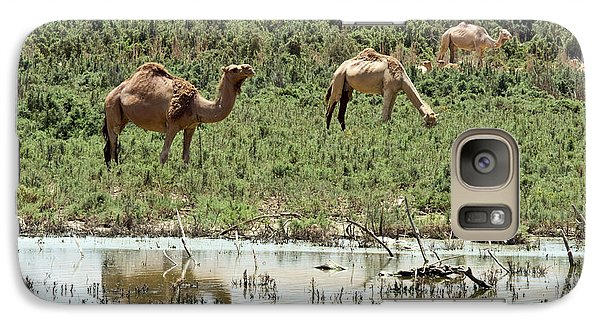 Galaxy Case featuring the photograph Camels 02 by Arik Baltinester