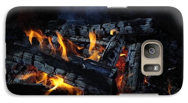Galaxy Case featuring the photograph Campfire by Fran Riley
