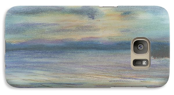 Galaxy Case featuring the pastel Campout On Golden Beach by Denny Morreale