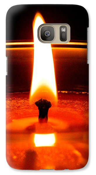 Galaxy Case featuring the photograph Candlelight by Ester  Rogers