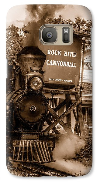 Galaxy Case featuring the photograph Cannonball Express In Sepia by Janice Adomeit