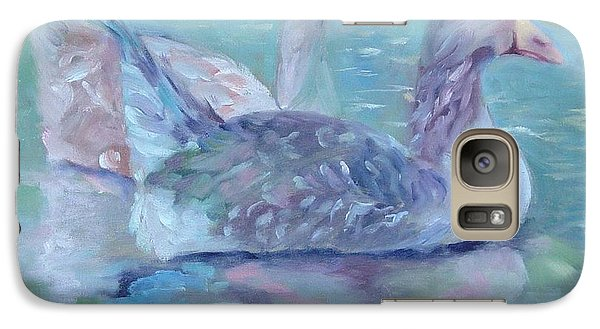Galaxy Case featuring the painting Cannonsburgh Geese by Carol Berning