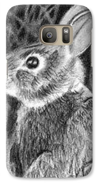 Galaxy Case featuring the drawing Can't See Me - Aceo by Ana Tirolese
