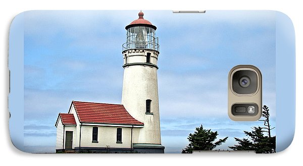 Galaxy Case featuring the photograph Cape Blanco Lighthouse by Nick Kloepping
