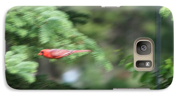 Galaxy Case featuring the photograph Cardinal In Flight by Thomas Woolworth