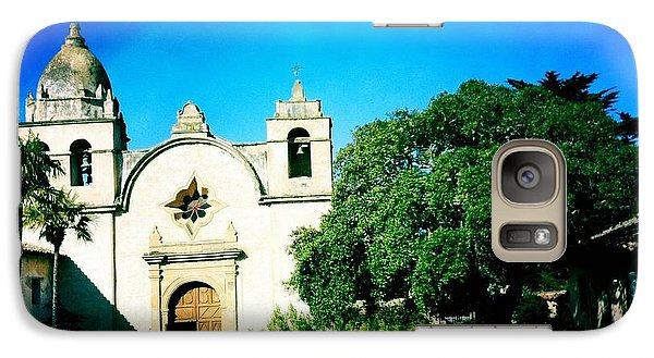 Galaxy Case featuring the photograph Carmel Mission by Nina Prommer