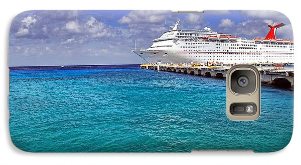Carnival Elation Docked At Cozumel Galaxy S7 Case