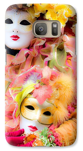Galaxy Case featuring the photograph Carnival Mask by Luciano Mortula
