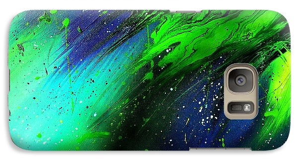 Galaxy Case featuring the painting Cascade by Mary Kay Holladay