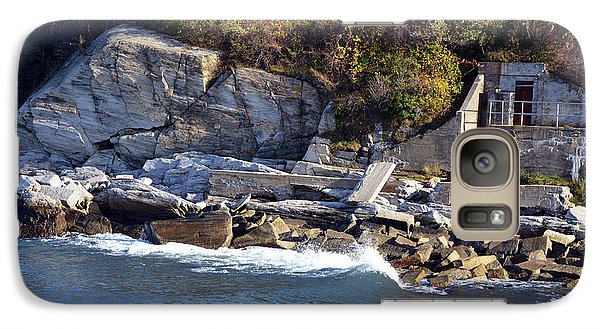 Galaxy Case featuring the photograph Casco Bay Fort Area Scene by Maureen E Ritter