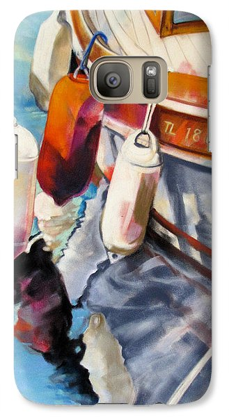 Galaxy Case featuring the painting Cassis Castaways by Rae Andrews