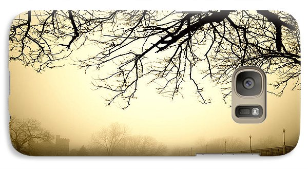 Galaxy Case featuring the photograph Castle In The Fog by Brian Duram