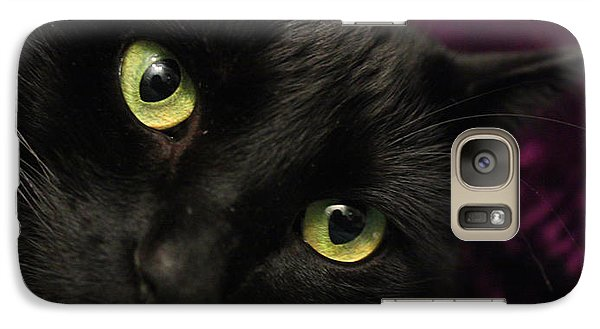 Galaxy Case featuring the photograph Cat Eyes by Tyra  OBryant