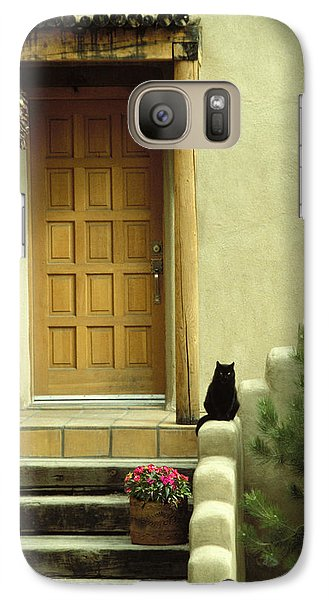Galaxy Case featuring the photograph Cat Post by Brent L Ander