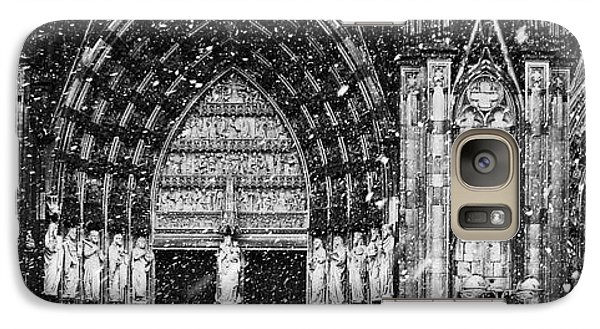 Galaxy Case featuring the photograph Cathedral In The Snow Panorama by Andy Prendy