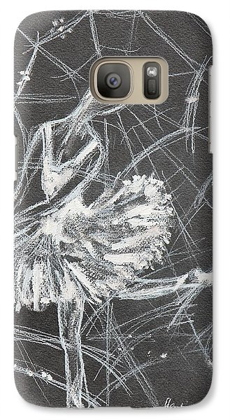 Galaxy Case featuring the drawing Caught In A Web  by Sladjana Lazarevic