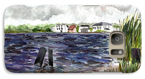 Galaxy Case featuring the painting Cedar Beach by Clara Sue Beym