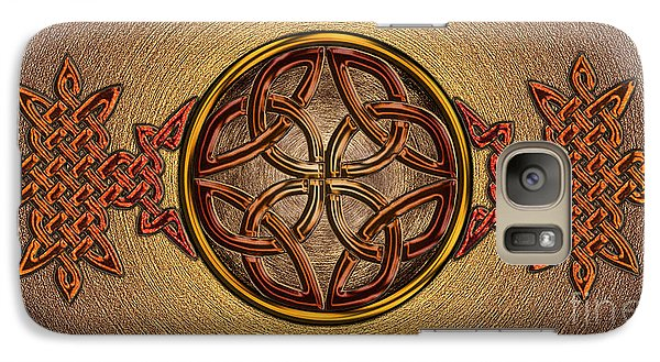 Galaxy Case featuring the mixed media Celtic Knotwork Enamel by Kristen Fox