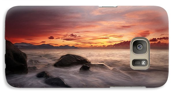 Galaxy Case featuring the photograph Celtic Sunset by Beverly Cash