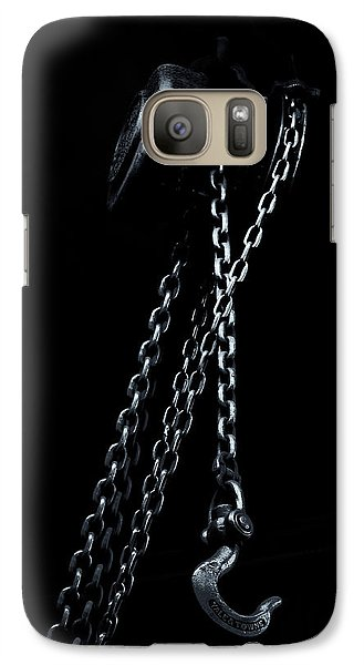 Galaxy Case featuring the photograph Chain And Hook by Tom Singleton
