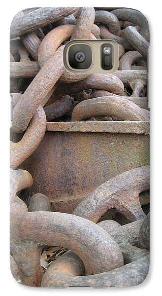 Galaxy Case featuring the photograph Chain Gang by Nancy Dole McGuigan