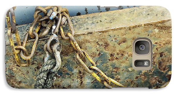 Galaxy Case featuring the photograph Chain Over Ship's Side by Agnieszka Kubica