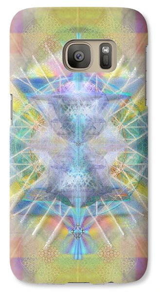 Galaxy Case featuring the digital art Chalice Of Vortexes Chalicell Rings On Renaissance Back by Christopher Pringer