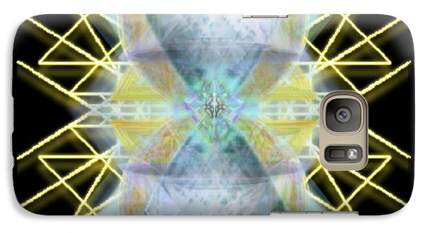Galaxy Case featuring the digital art Chalices From Pi Sphere Goldenray II by Christopher Pringer