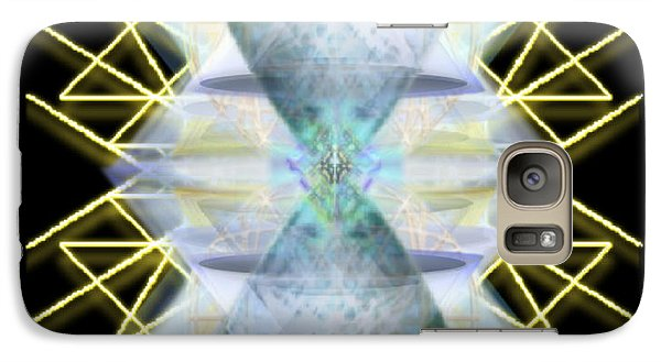 Galaxy Case featuring the digital art Chalices From Pi Sphere Goldenray IIi by Christopher Pringer