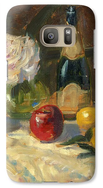 Galaxy Case featuring the painting Champagne And Roses by Marlyn Boyd