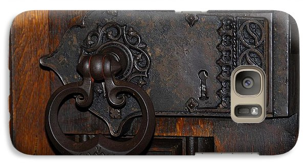 Galaxy Case featuring the photograph Chapel Door by Cindy Manero