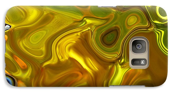 Galaxy Case featuring the digital art Chartreuse Series Abstract Xii by Ginny Schmidt