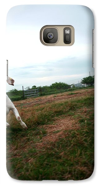 Galaxy Case featuring the photograph Chased By A Crazy Goat by Lon Casler Bixby
