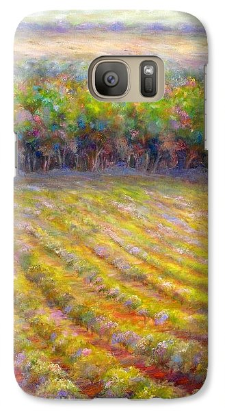 Galaxy Case featuring the painting Chateau De Berne Vineyard by Bonnie Goedecke