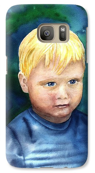 Galaxy Case featuring the painting Chayton by Sharon Mick