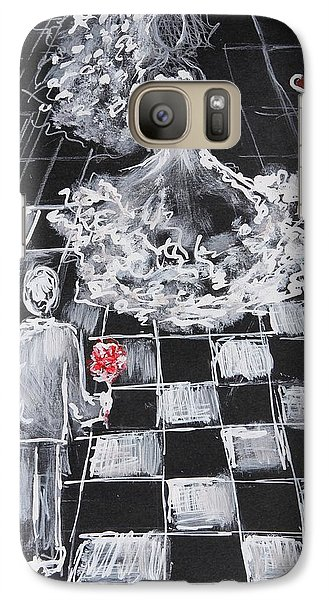Galaxy Case featuring the painting Checkmate by Sladjana Lazarevic